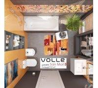 Комплект для ванной комнаты Volle 070079 SAN MORI-3 -ванна, компакт, биде, тумба с раковиной, смесители, душ гарнитур