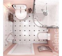 Комплект для ванной комнаты Volle VALENSIYA 070066 -душ. кабина, компакт, умывальник, смеситель, скрытый монтаж с верхним душем